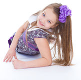 Smile of the beautiful 6-years old girl Stock Photos