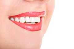 Smile of a beautiful young woman Stock Photos