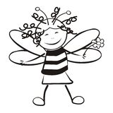 Smile bee Royalty Free Stock Photos