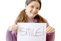 Smile is better Royalty Free Stock Images