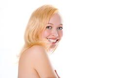 Smile blonde girl portrait Stock Photography
