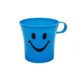 Smile blue cup. Stock Photos