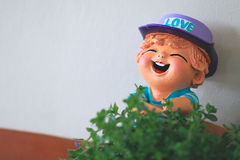 Smile bor,clay doll Stock Images