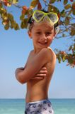 Smile boy in the beach Royalty Free Stock Images