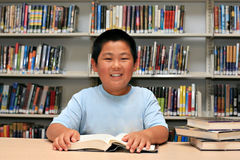 Smile Boy at Library Stock Photos