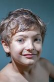 Smile - boy make faces Royalty Free Stock Image