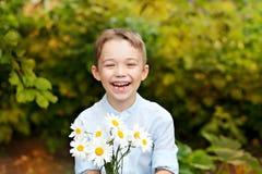 Smile boy outdoor Stock Photos