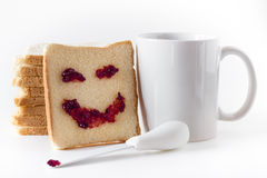 Smile at breakfast Stock Images