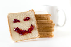 Smile at breakfast Stock Photography