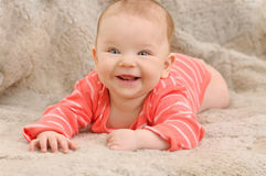 Smile broadly cute happy little girl Royalty Free Stock Image