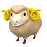Smile Brown Sheep Royalty Free Stock Images