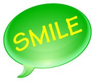 Smile bubble Royalty Free Stock Photos