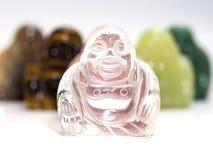 Smile buddha  on white Stock Image