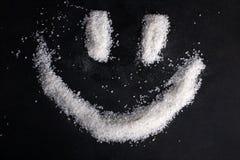 Smile built of sea salt Stock Photography