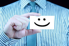 Smile - business card Royalty Free Stock Image