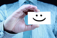 Smile - business card Stock Image