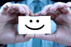 Smile - business card Royalty Free Stock Photo