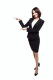Smile Business woman show fingers isolated Stock Image