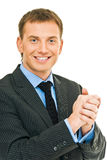 Smile from businessman Royalty Free Stock Photo
