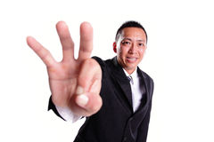 Smile businessman show ok Royalty Free Stock Photos