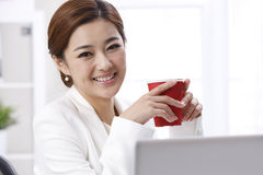 Smile businesswoman Stock Image