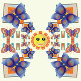 Smile Butterfly  Pattern Royalty Free Stock Images