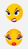 Smile, button Stock Photo