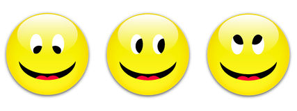 Smile buttons Royalty Free Stock Image