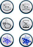 Smile buttons Royalty Free Stock Images