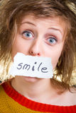 SMILE card Royalty Free Stock Photos