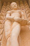 Smile carved woman. On the wall. Thailand Royalty Free Stock Photos