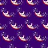 Smile cat seamless pattern. Vector background. Stock Photos