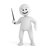 Smile character stay with pointer Stock Photography