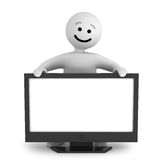 Smile character stay with tv Stock Images