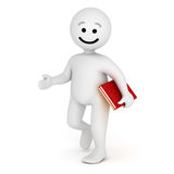 Smile character walk with books Stock Image
