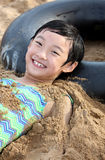 smile child in beach Stock Photography