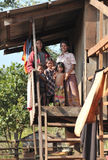 Smile children in Cambodia ethnic minority Bunong poor village Stock Photography