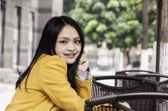 Smile chinese girl Royalty Free Stock Image