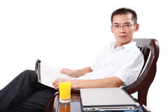 Smile chinese man Stock Photography
