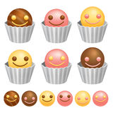 Smile Chocolate Ball. Valentine Icon Design Series. Royalty Free Stock Photography