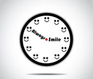 Smile clock with hours replaced by a smile Royalty Free Stock Photos