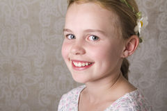 Smile. Close up of a young girl looking at the camera Stock Images