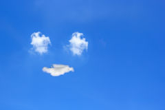 Smile from cloud in the sky Stock Photo