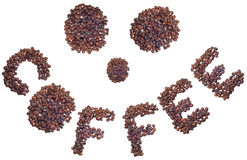 Smile of coffe beans Royalty Free Stock Image