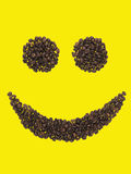 Smile of coffee beans Stock Photos