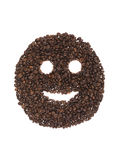 Smile of coffee beans Royalty Free Stock Photos