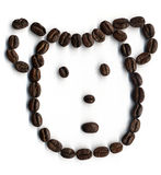 Smile from coffee-beans Royalty Free Stock Image