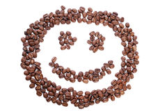 Smile in coffee beans Royalty Free Stock Images