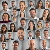Smile collage Stock Photography