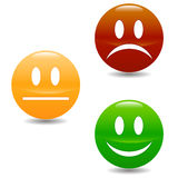 Smile colored buttons Royalty Free Stock Photos